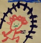 Peinture de N.L. à 4 ans
