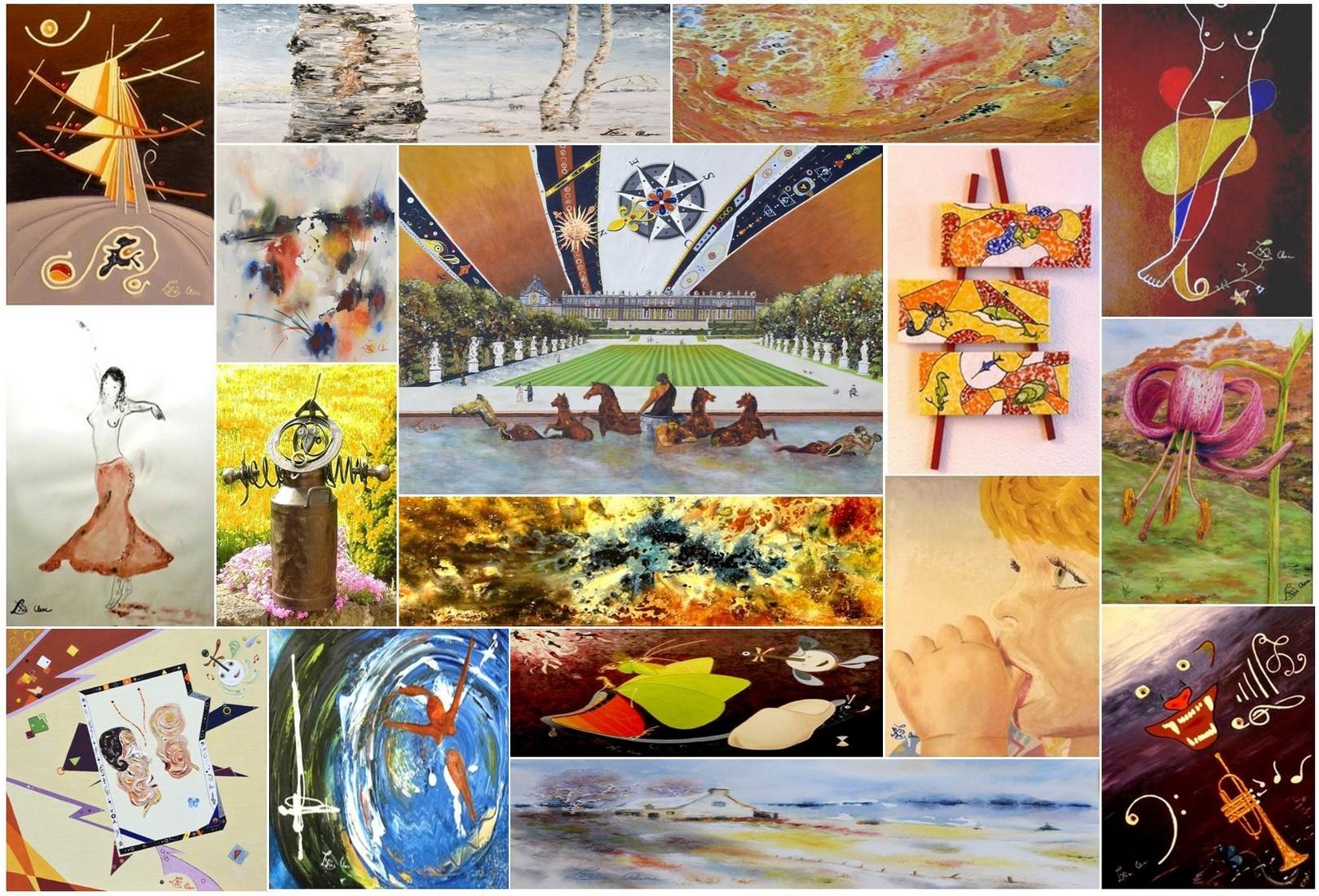 Peinture, sculpture, écriture à Aurillac /  Visite atelier ou cours : dessin, peinture, photo et… criture. 200 œuvres sont visibles par l'onglet Galeries en haut de page.