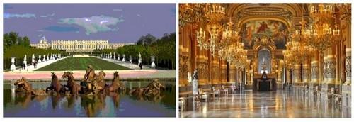 Versailles et opéra Garnier
