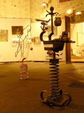 Sculpture acier sur pied
