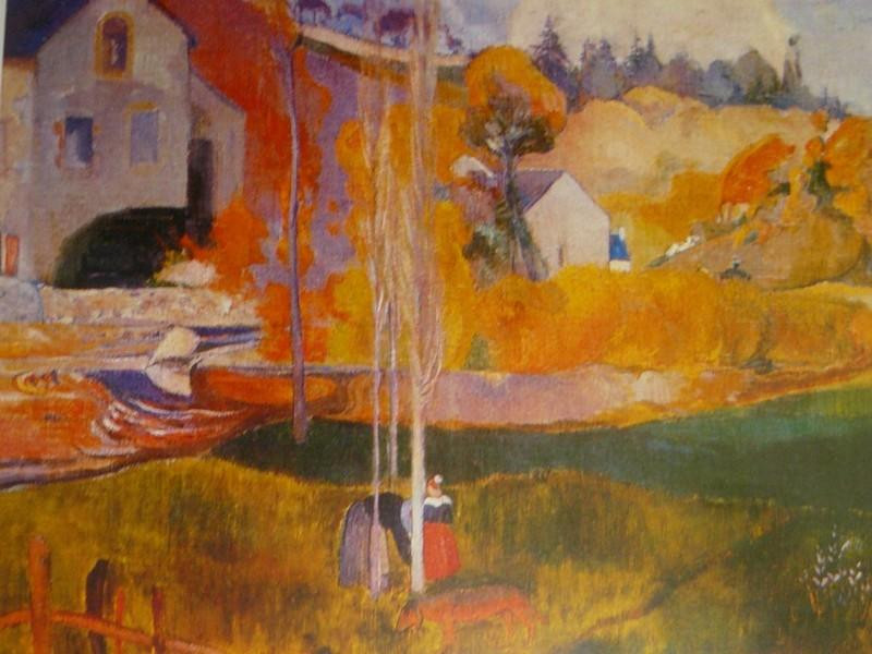 Paul Gauguin / Paysage de Bretagne. Le moulin David / Huile 74 x 92 cm