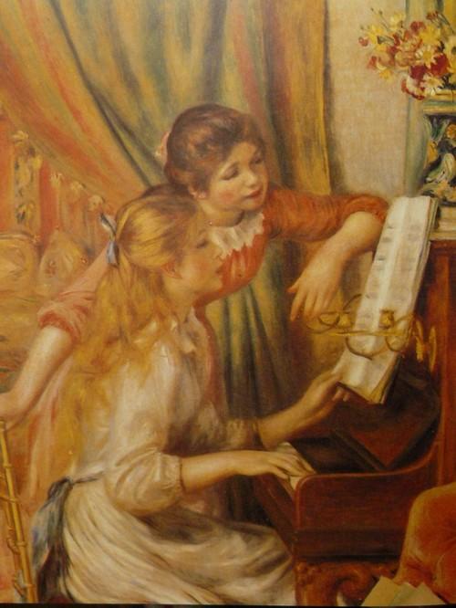 Pierre-Auguste Renoir / Jeunes filles au piano / huile 116 x 90 cm