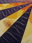 Plume de paon / acrylique