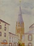 Abbaye -Géraud, Aurillac / aquarelle