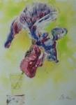 Verre d'iris / aquarelle