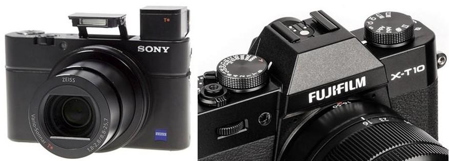 Sony RX100III et Fuji X-T10