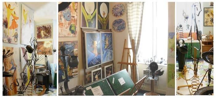 Atelier galerie de peinture sculpture