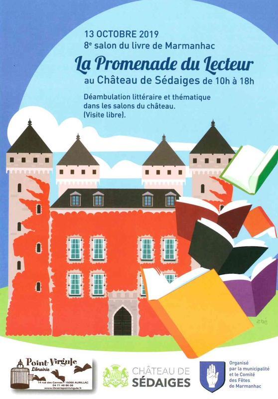 salon du livre au château de Sédaiges