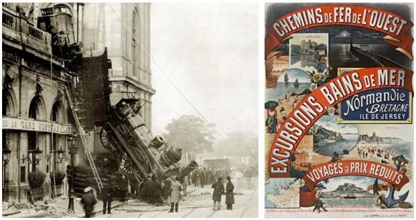 La gare Montparnasse (Paris) en 1895. Rompre le train train du quotidien ?