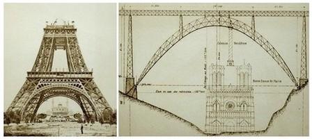 Art et ouvrages d'art. Tour Eiffel, chantier en 1888... et Garabit