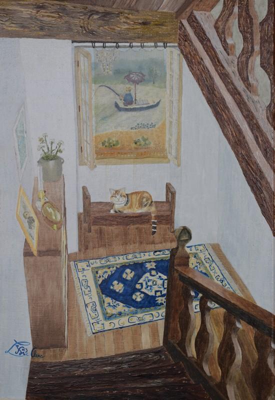 La première version huile sur toile que j'avais faite... il y a longtemps