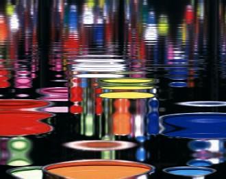 Reflets de peinture