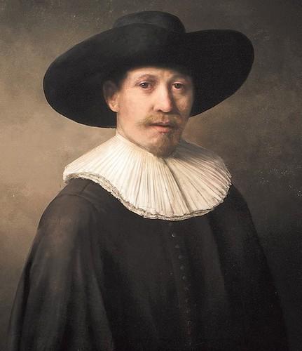 Un tableau réalisé par ordinateur dans le style de Rembrandt