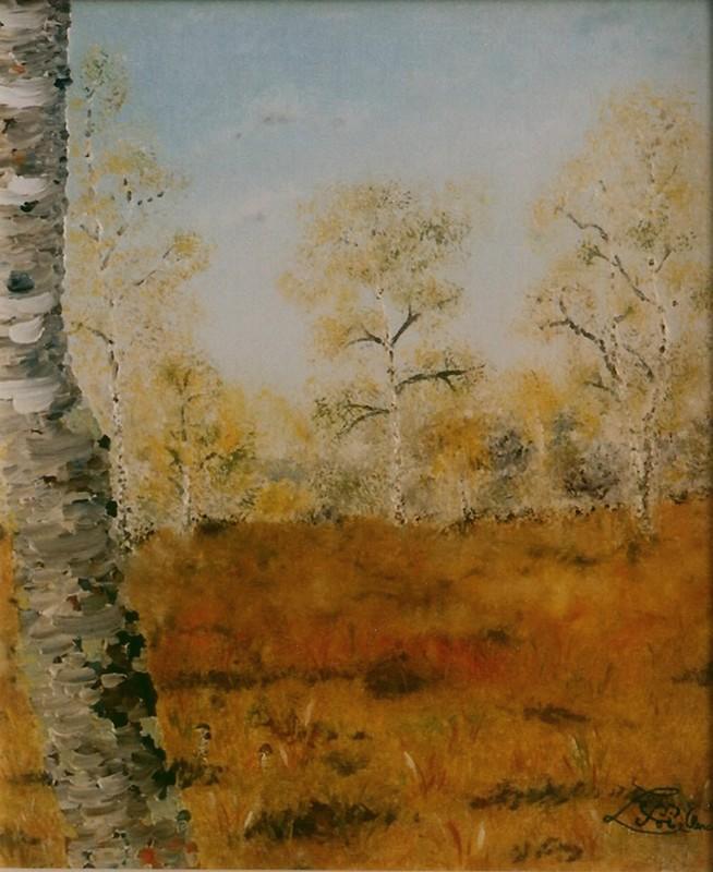 Ma clairière (huile imaginaire de 2006, présentée en rappel)
