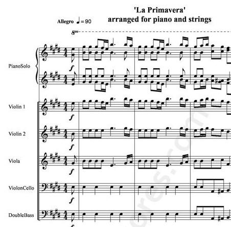 Antonio Vivaldi, Le Printemps