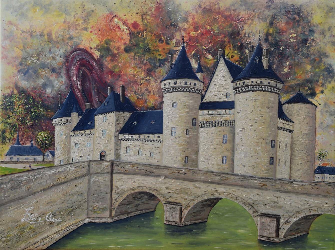 Toile huile 60 x 80 cm, château de Sully-sur-Loire
