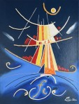 Femme voilier 2 peinture