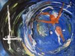 plongeon de sirène, peinture