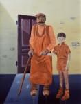 le vieux et l'enfant, peinture