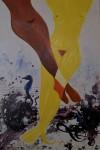 Jambes de femmes : peinture huile