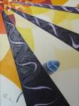 plume de geai, peinture